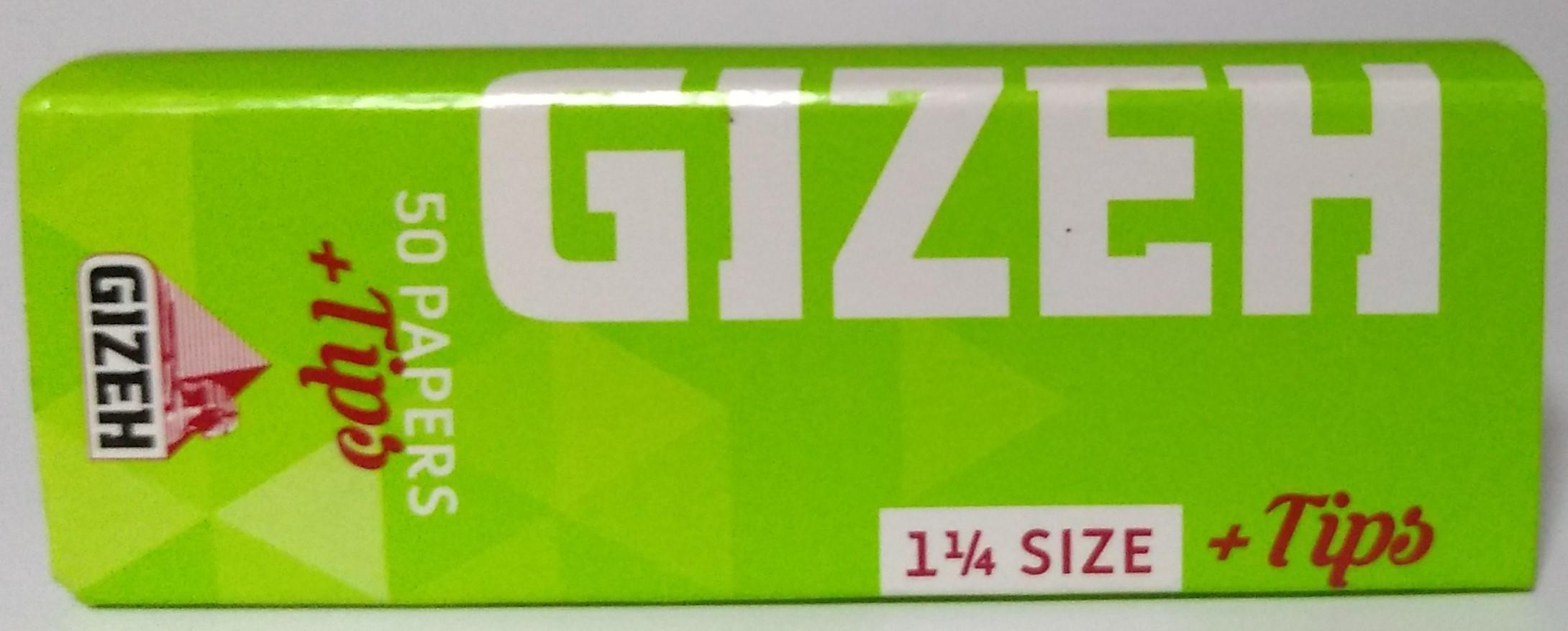 Papel Gizeh Verde Com Filter tips 1.1/4