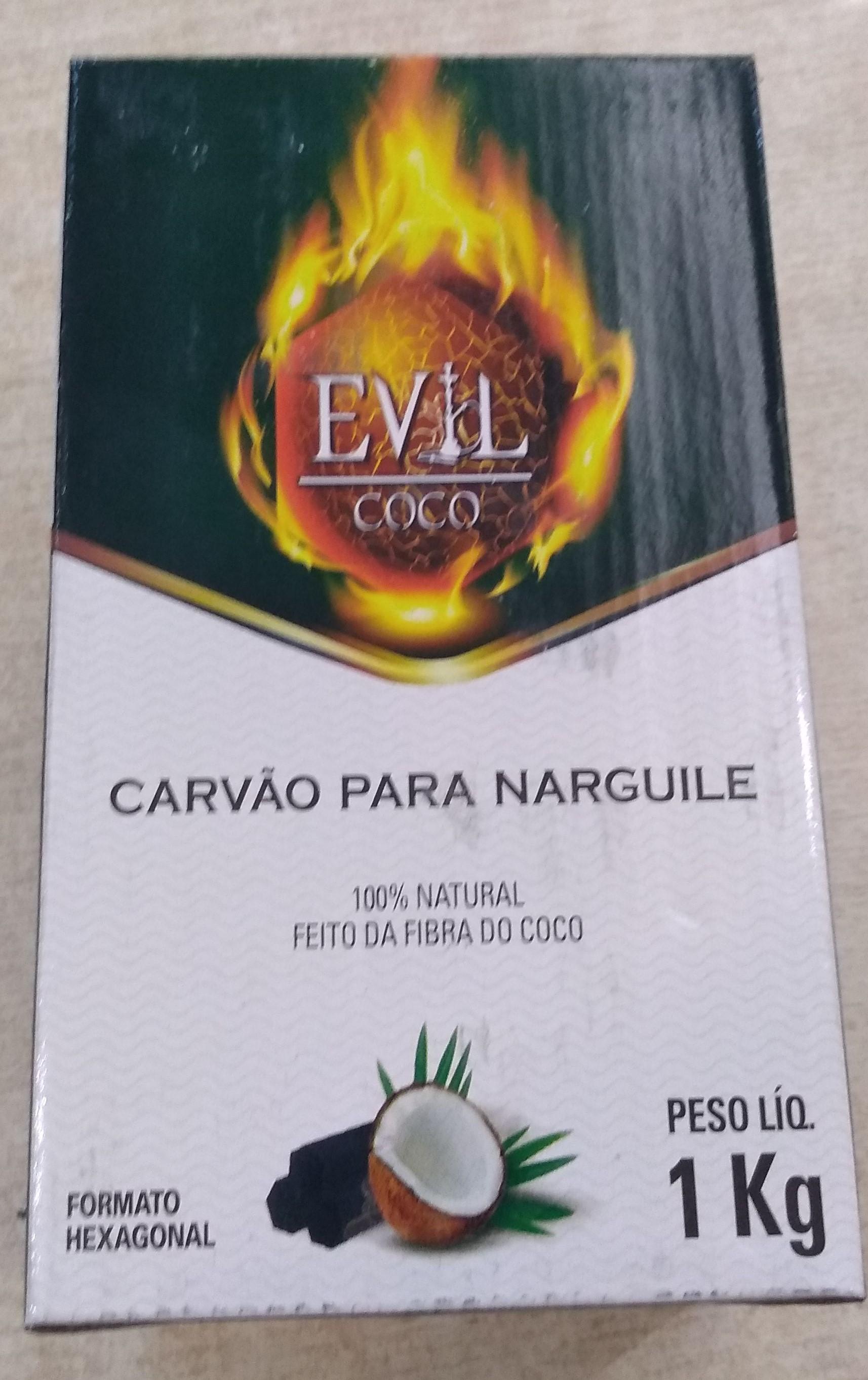 Carvão Evil Coco - Caixa