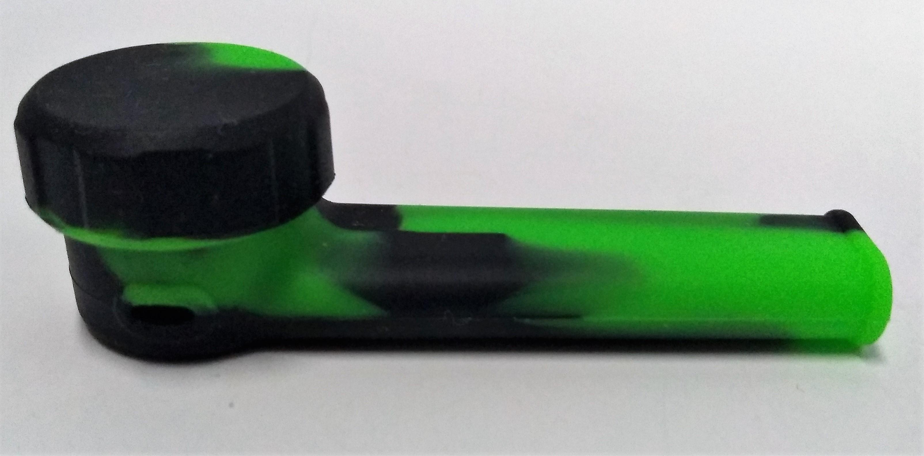 Pipe de Silicone com Tampa Verde com Preto