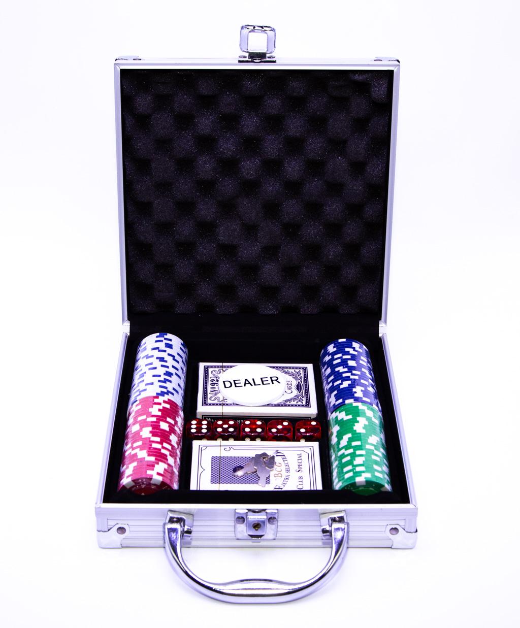 Maleta de Poker  com 100 Fichas