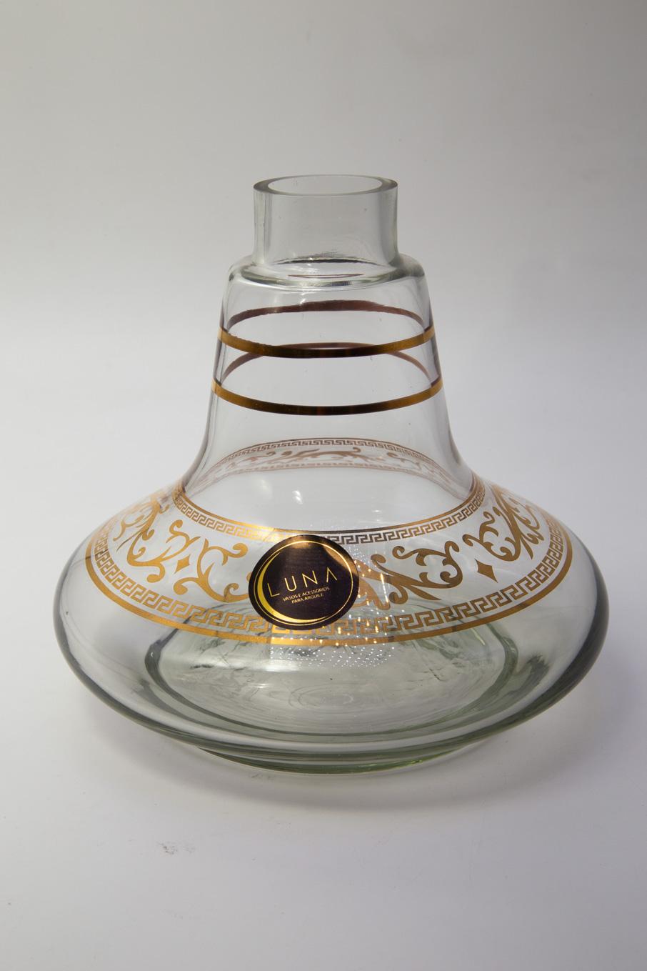 Vaso Luna Transparente com Dourado