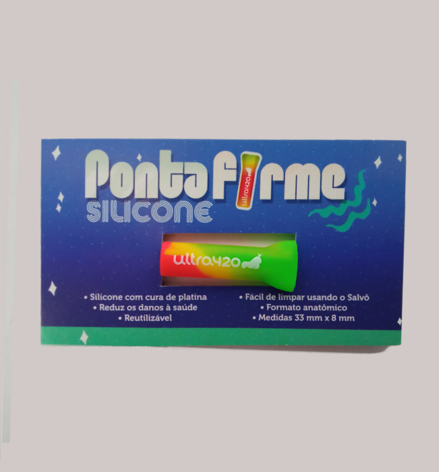 Piteira Ponta Firme Silicone Verde e Vermelho