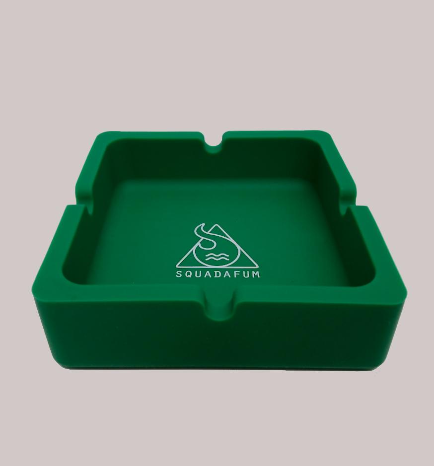 Cinzeiro para cigarro Quadrado Squadafum Verde