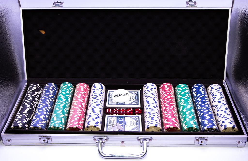 Maleta de Poker  com 500 Fichas