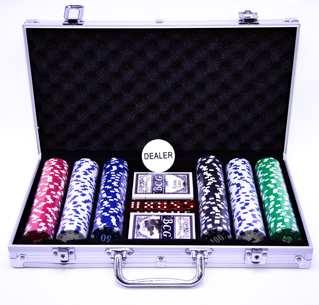 Maleta de Poker  com 300 Fichas