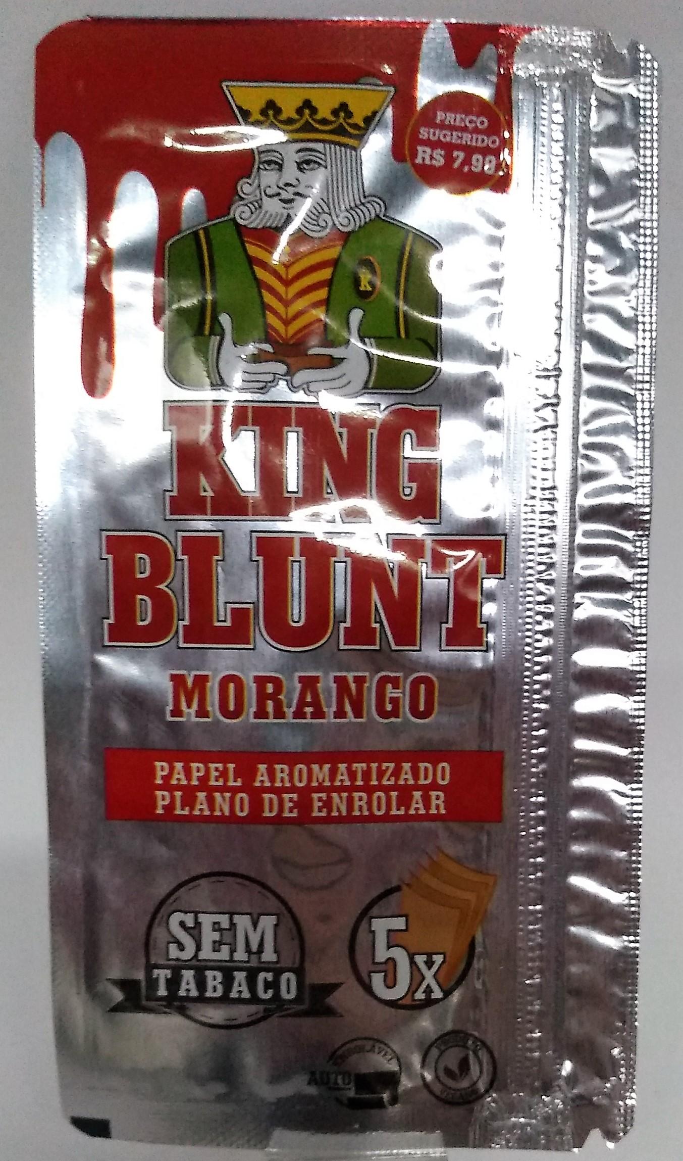 Papel Blunt King Blunt Morango