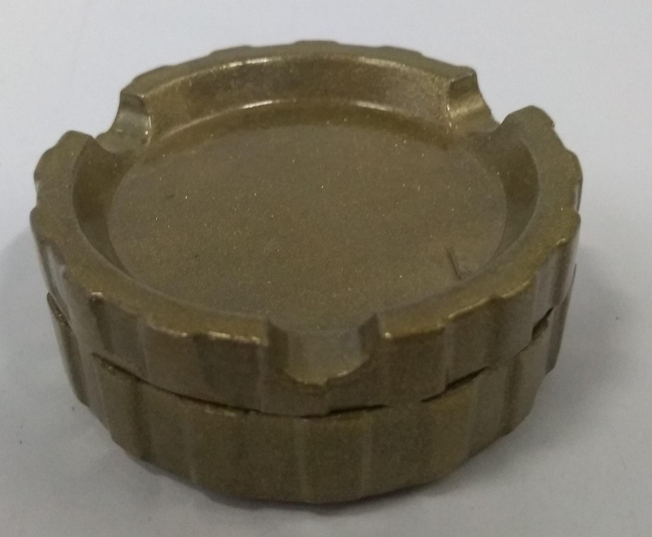 Triturador Metal Cinzeiro Dourado