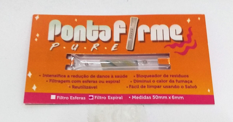 Piteira Ponta Firme Pure Filtro Espiral